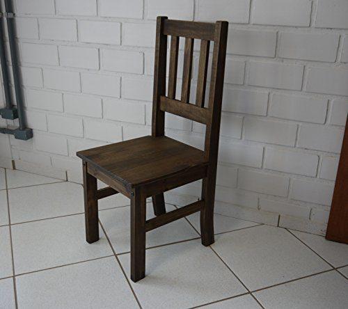 Esszimmerstuhl 'Rio' Pinie Massivholz Lehnstuhl, Brasilmöbel Eiche antik, in 45 Farbvarianten