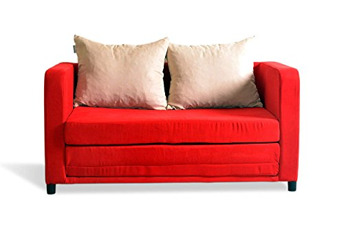 schlafsofa zum schlafsessel rot sofa 2 sitzer soli schlafsofas cube mit bettkasten und. Black Bedroom Furniture Sets. Home Design Ideas