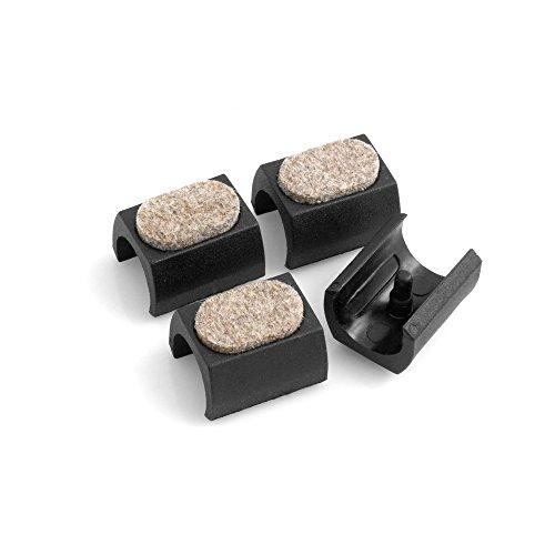 Design61 Filzgleiter 4er Set für Freischwinger Stuhlgleiter Bodenschongleiter Ø 24-25 mm Silencer Möbelgleiter Klemmschalengleiter mit geräuschdämpfender Filzgleitfläche