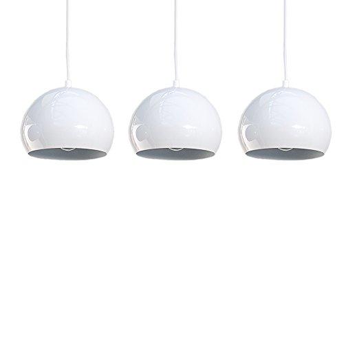 Designer Hängeleuchte CHROMAGON weiss Kugelleuchte Lampe Leuchte