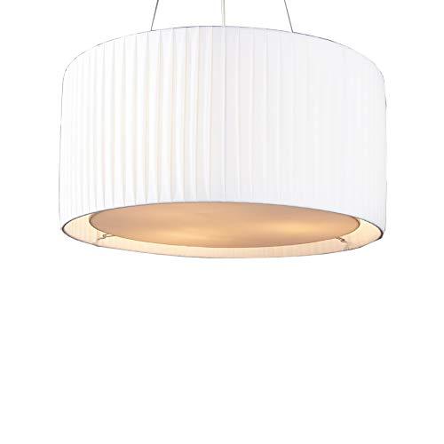 Invicta Interior Moderne Design Hängelampe SOBRIETA weiß 65 cm höhenverstellbar Hängeleuchte Plissee Optik Lampe…