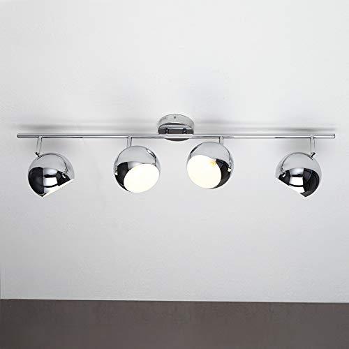 Riess Ambiente Klassische Design Deckenleuchte Bubble Chrom 105cm Deckenlampe Lampe Leuchte