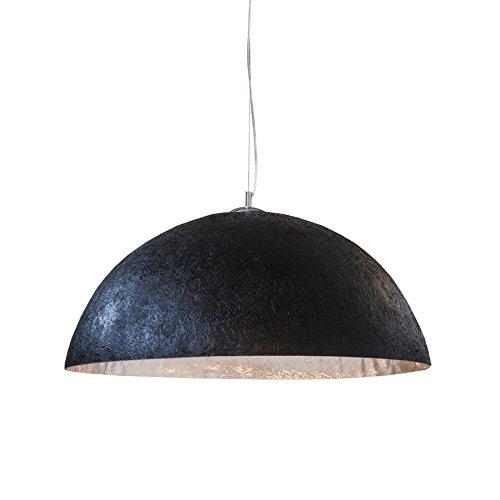 Moderne Hängeleuchte GLOW schwarz silber 70cm Hängelampe Esszimmerlampe Esszimmerbeleuchtung E27