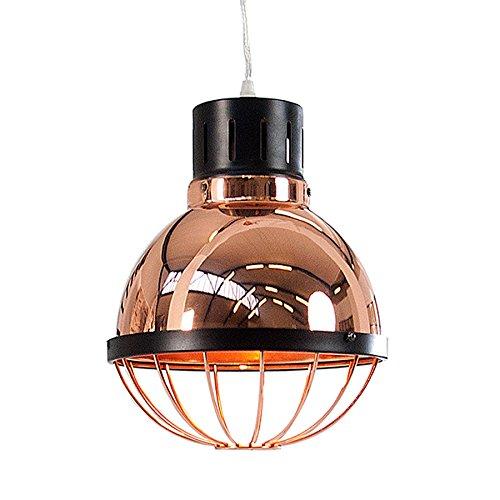 Moderne Hängeleuchte Industrie FACTORY kupfer 25cm Deckenlampe E27 Industrielampe Pendelleuchte Beleuchtung…