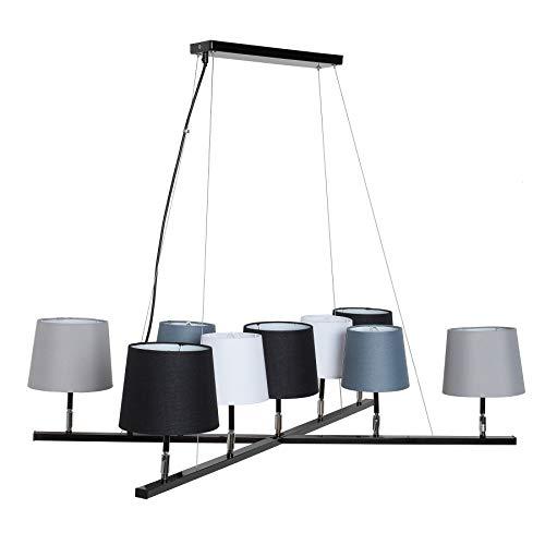 Moderne Hängeleuchte LEVELS II mit 9 Leinen Schirmen Hängelampe Lampe Leuchte