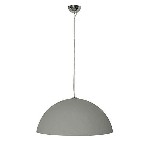 Stylische Hängeleuchte GLOW 50cm Beton silber Hängelampe Deckenlampe Leuchte