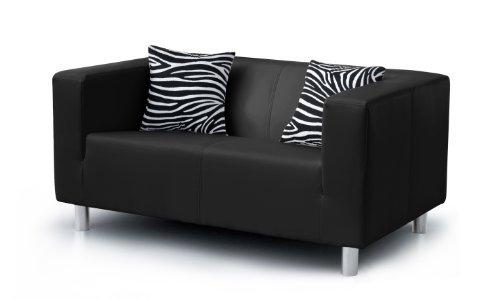 B-famous 2-Sitzer Sofa Cube 135 x 85 cm, PU, schwarz