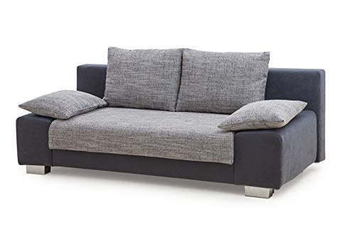 Collection AB Max Schlafsofa, Stoff, Anthrazit/grau, 98 x 200 x 85 cm