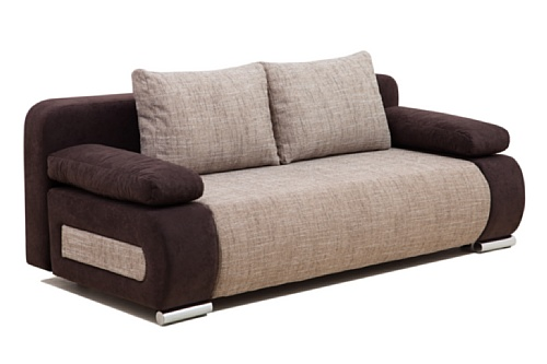 Collection AB ULM Sofa Schlafsofa, mikrofaser, Capuccino, 98 x 200 x 85 cm