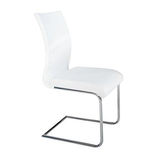 Design Freischwinger SUAVE weiss Stuhl Küchenstuhl Esszimmerstuhl
