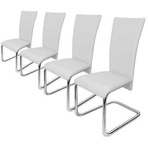 Deuba 4er Set Freischwinger Esszimmerstuhl Schwarz - Schwingstühle Küchenstühle Esszimmer Küchenstuhl Esszimmerstühle…