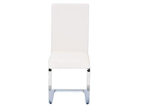 Inter Link 30200840 Küchenstuhl Esszimmerstuhl Esszimmer Stuhl Metallstuhl weiß chrom Softpolster