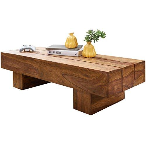 Wohnling Couchtisch Sira, Massiv-Holz Sheesham, 120 cm, dunkel-braun