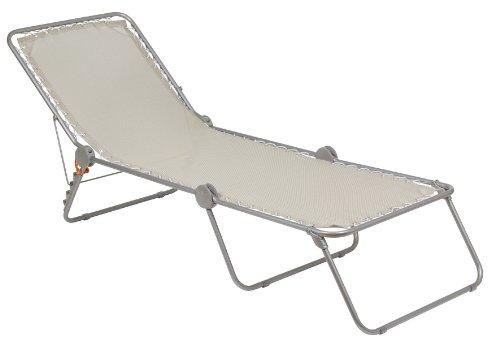 Lafuma Sonnenliege, klappbar mit verstellbarem Rückenteil, Siesta L Batyline, Seigle (Grau), LFM2293-1685