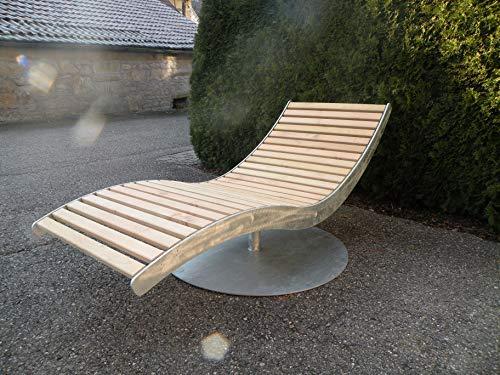 BEILHARZ Premium Gartenliege - Relaxliege mit 360° Drehfunktion - hochwertige Sonnenliege aus Akazienholz - Holz…