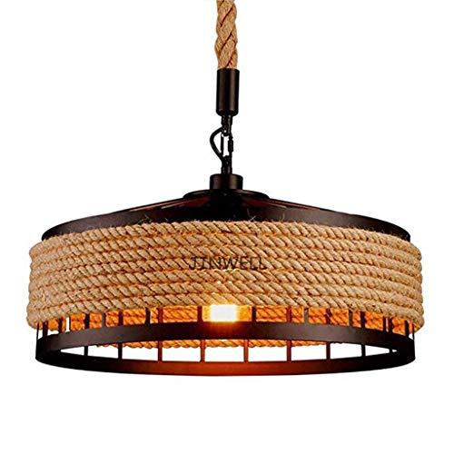 Hängelampe Vintage Seilampe Pendelleuchte Deckenleuchte E27 Retro Industrie Pendellampe Eisen Loft Kronleuchter Rustikal…