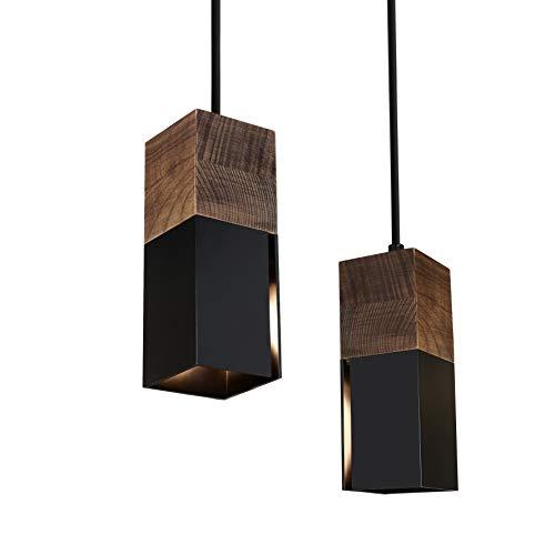 Matiere Pendelleuchte Vintage Hängeleuchte Retro Lampenschirm Industrial für E14 Leuchtmittel schwarz und weiß wählbar…