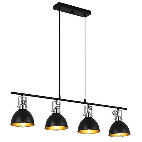 H.W.S Vintage Pendelleuchte Schwarz Retro Hängeleuchte Industrial Leuchtmittel E27 Pendellampe Höhenverstellbar…