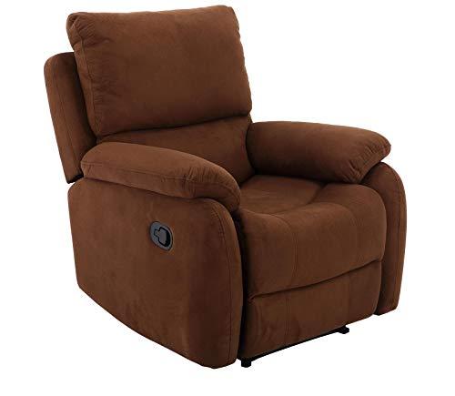 lifestyle4living Sessel in braunem Microfaser bezogen mit praktischer Relaxfunktion, Verstellbarer Fernsehsessel mit manueller Starthilfe zum relaxen und genießen