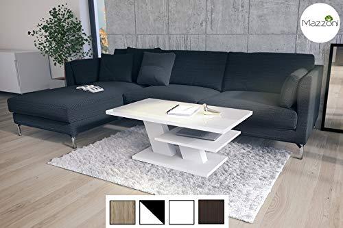 Design Couchtisch Cliff Weiß Hochglanz Tisch Wohnzimmertisch 110x60x45cm mit Ablagefläche