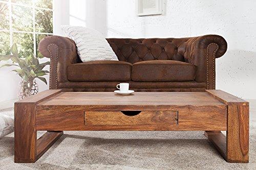 DuNord Design Couchtisch Massiv Holz Wohnzimmertisch Palisander Tisch Holztisch 100cm