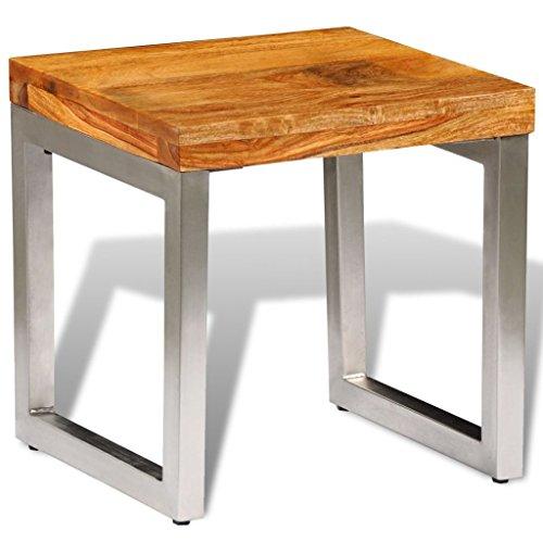 vidaXL Couchtisch Sheesham Holz Palisander Beistelltisch Tisch Kaffeetisch, Braun, One Size